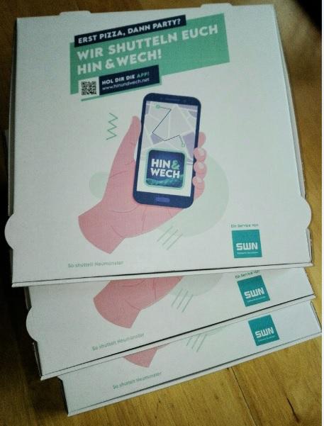 App geht's mit Pizzakartons für den ÖPNV!